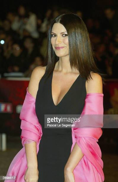 Singer Laura Pausini arrives at the French NRJ Music Awards ceremony during the annual Midem music conference at the Palais des Festivals on January...