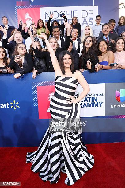 Singer Laura Pausini attends The 17th Annual Latin Grammy Awards at TMobile Arena on November 17 2016 in Las Vegas Nevada