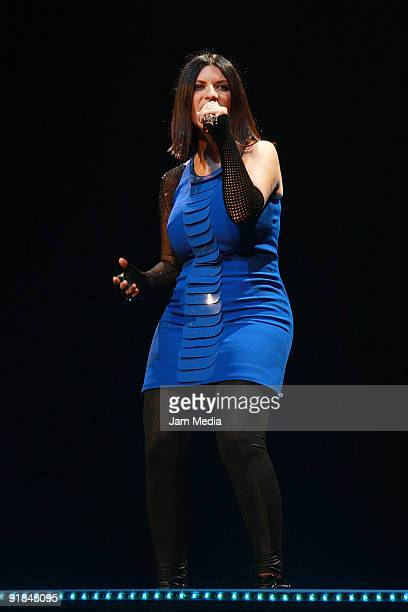 Singer Laura Pausini performs at the Sand Monterrey on October12 2009 in Monterrey Mexico