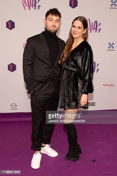 Singer Laura Tesoro and her boyfriend Jordan pictured during the 13th edition of the MIA's award show, in Brussels, Thursday 06 February 2020. The...