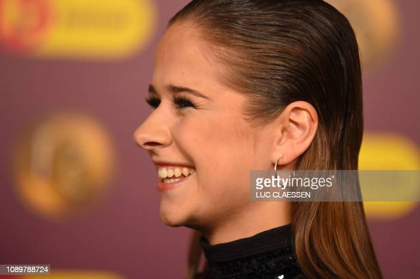 singer Laura Tesoro pictured during the 'Gala van de Gouden K's' award show organized by Flemish children's television channel Ketnet Saturday 26...