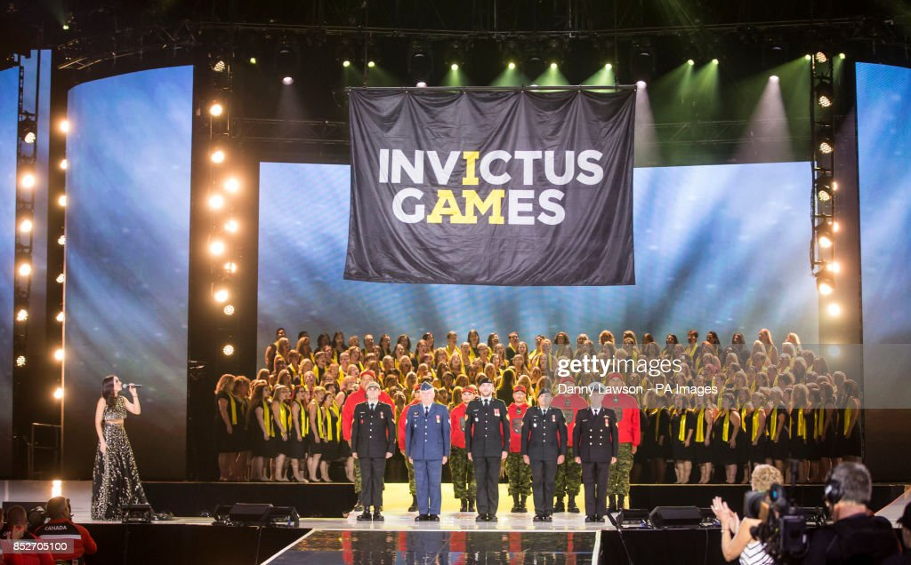 Singer Laura Wright performs during the Opening Ceremony of the 2017 Invictus Games at the Air Canada Centre in Toronto, Canada.