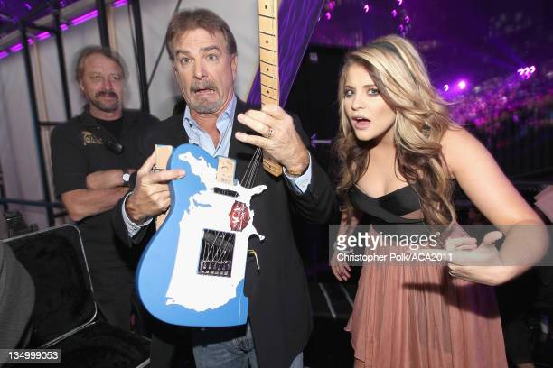 Singer Lauren Alaina and comedian Bill Engvall attends the American Country Awards 2011 at the MGM Grand Garden Arena on December 5 2011 in Las Vegas...