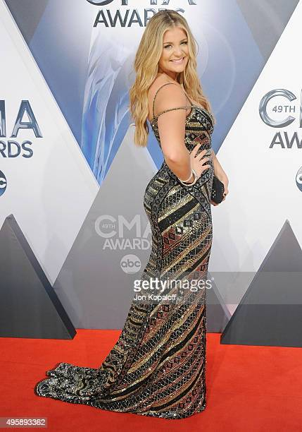 Singer Lauren Alaina attends the 49th annual CMA Awards at the Bridgestone Arena on November 4 2015 in Nashville Tennessee