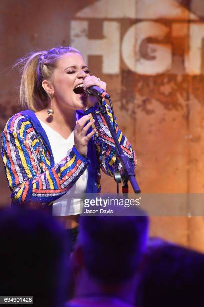 Singer Lauren Alaina performs onstage at the HGTV Lodge during CMA Music Fest on June 11 2017 in Nashville Tennessee