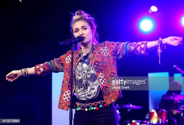 Singer Lauren Daigle performs onstage at NAMM Show 2018 at the Anaheim Convention Center on January 25 2018 in Anaheim California