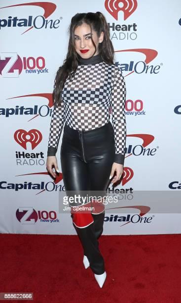 Singer Lauren Jauregui attends the Z100's iHeartRadio Jingle Ball 2017 at Madison Square Garden on December 8 2017 in New York City