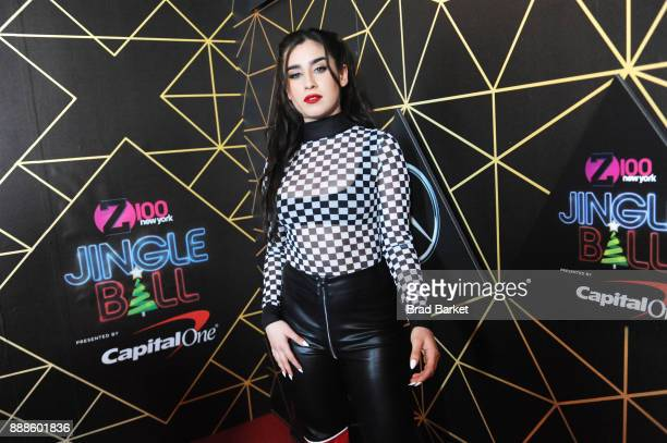 Singer Lauren Jauregui attends the Z100's Jingle Ball 2017 backstage on December 8 2017 in New York City