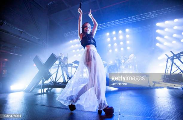 Singer Lauren Mayberry of Chvrches performs at The Fillmore Charlotte on October 16 2018 in Charlotte North Carolina