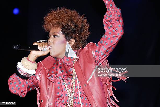 Singer Lauryn Hill performs at the 25th Annual Martin Luther King Jr Concert Series at Wingate Field in Brooklyn NY