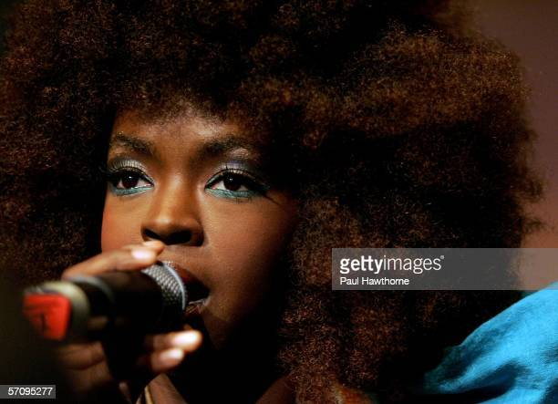 Singer Lauryn Hill performs during a party to celebrate Montblanc's 100th Anniversary at The Newspace March 14 2006 in New York City