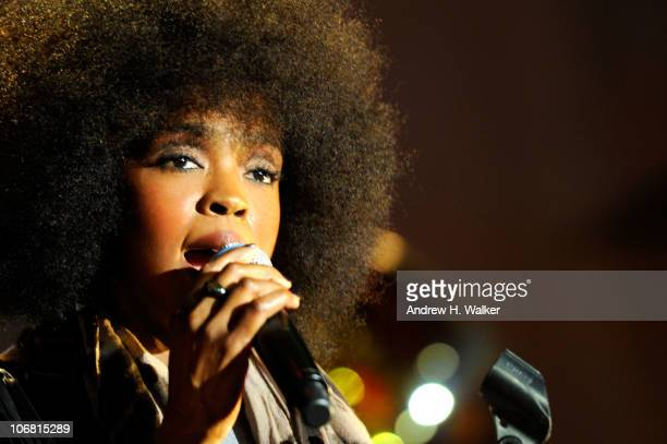 Singer Lauryn Hill performs during the Michael J Fox Foundation's 2010 Benefit A Funny Thing Happened on the Way to Cure Parkinson's at The...