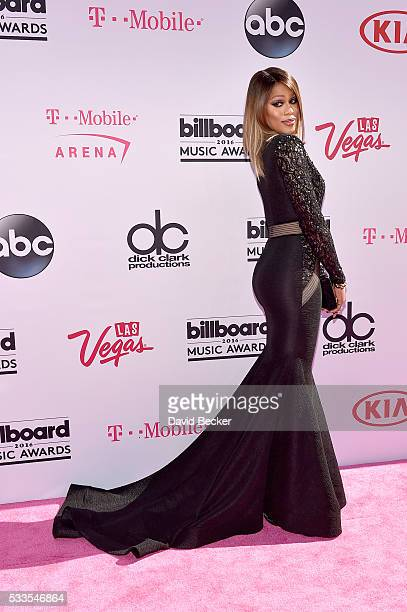 Singer Laverne Cox attends the 2016 Billboard Music Awards at TMobile Arena on May 22 2016 in Las Vegas Nevada