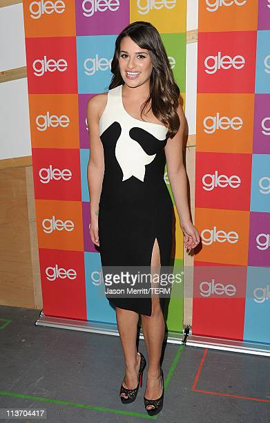 Singer Lea Michele attends the Glee Academy Screening and QA on May 4 2011 in Hollywood California