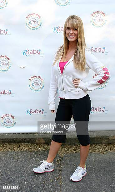Singer Leah Renee attends the R Baby Foundation Mother's Day Run/Walk in Central Park on May 10 2009 in New York City