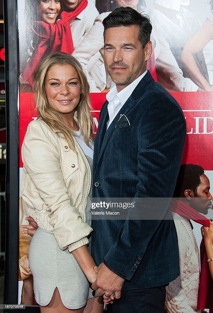 Singer Leann Rimes And Actor Ed Cibrian Arrive At The Premiere Of Universal Pictures