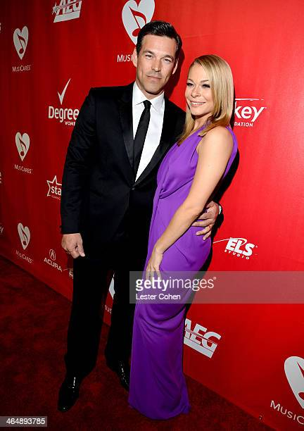 Singer LeAnn Rimes and actor Eddie Cibrian attend 2014 MusiCares Person Of The Year Honoring Carole King at Los Angeles Convention Center on January...