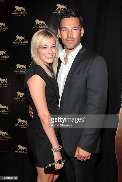 Singer LeAnn Rimes and actor Eddie Cibrian attend the 2nd Anniversary celebration at MGM Grand at Foxwoods on May 15 2010 in Mashantucket Connecticut
