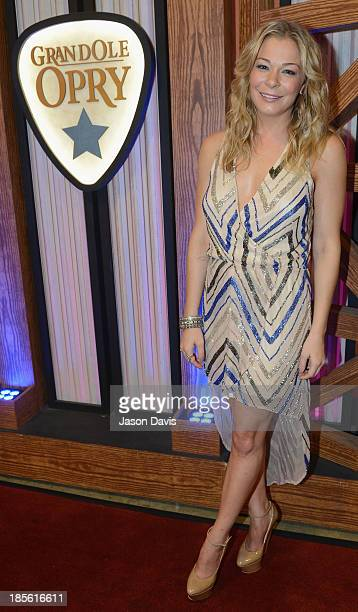 Singer LeAnn Rimes appears during the 5th annual Opry Goes Pink show at The Grand Ole Opry on October 22 2013 in Nashville Tennessee
