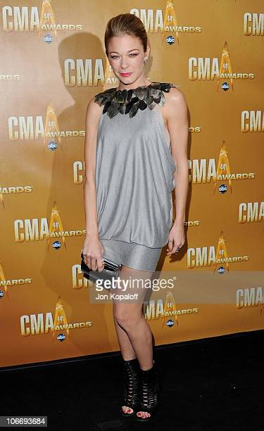 Singer LeAnn Rimes arrives at the 44th Annual CMA Awards at the Bridgestone Arena on November 10 2010 in Nashville Tennessee