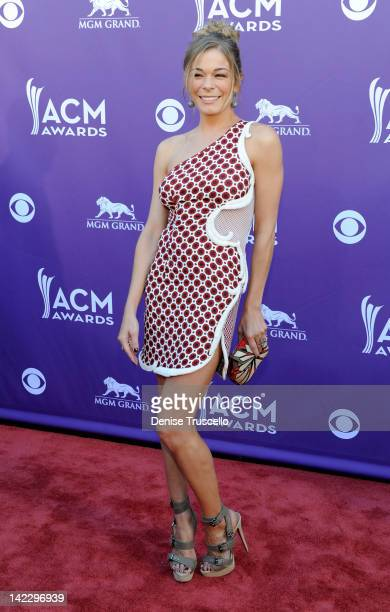 Singer LeAnn Rimes arrives at the 47th Annual Academy Of Country Music Awards held at the MGM Grand Garden Arena on April 1 2012 in Las Vegas Nevada