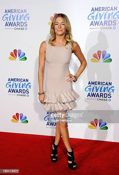 Singer LeAnn Rimes arrives at the American Giving Awards Presented By Chase at Dorothy Chandler Pavilion on December 9, 2011 in Los Angeles,...