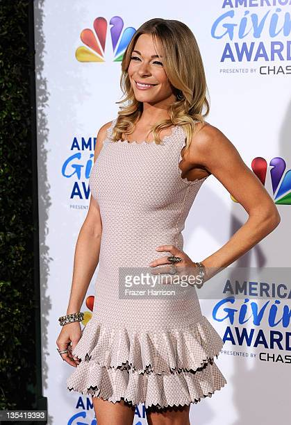 Singer LeAnn Rimes arrives at the American Giving Awards Presented By Chase at Dorothy Chandler Pavilion on December 9 2011 in Los Angeles California