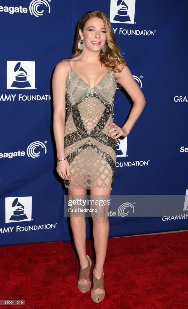 Singer LeAnn Rimes arrives at the Grammy Foundation's 15th Annual Music Preservation Project at Saban Theatre on February 7, 2013 in Beverly Hills, California.