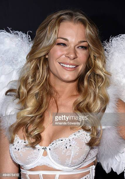 "Singer LeAnn Rimes arrives at the Life & Style Weekly's ""Eye Candy"" Halloween Bash hosted by LeAnn Rimes at Riviera 31 at Sofitel on October 29, 2015..."