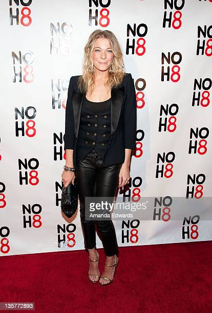 Singer LeAnn Rimes arrives at the NOH8 Campaign's 3 Year Anniversary Celebration at House of Blues Sunset Strip on December 13 2011 in West Hollywood...