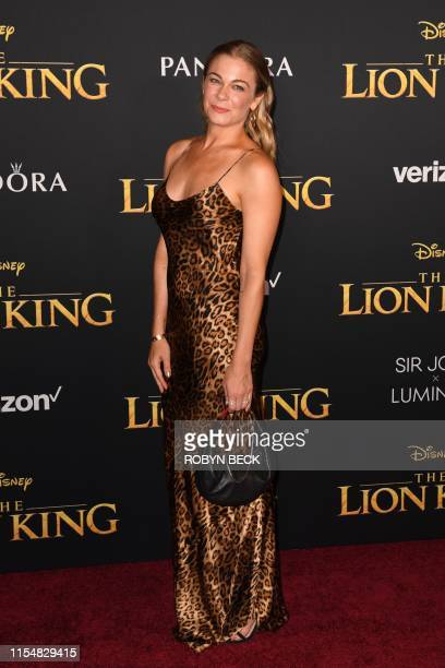 US singer LeAnn Rimes arrives for the world premiere of Disney's The Lion King at the Dolby theatre on July 9 2019 in Hollywood