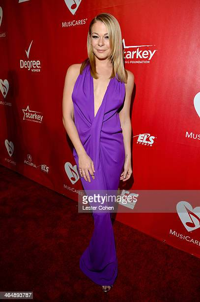 Singer LeAnn Rimes attends 2014 MusiCares Person Of The Year Honoring Carole King at Los Angeles Convention Center on January 24, 2014 in Los...