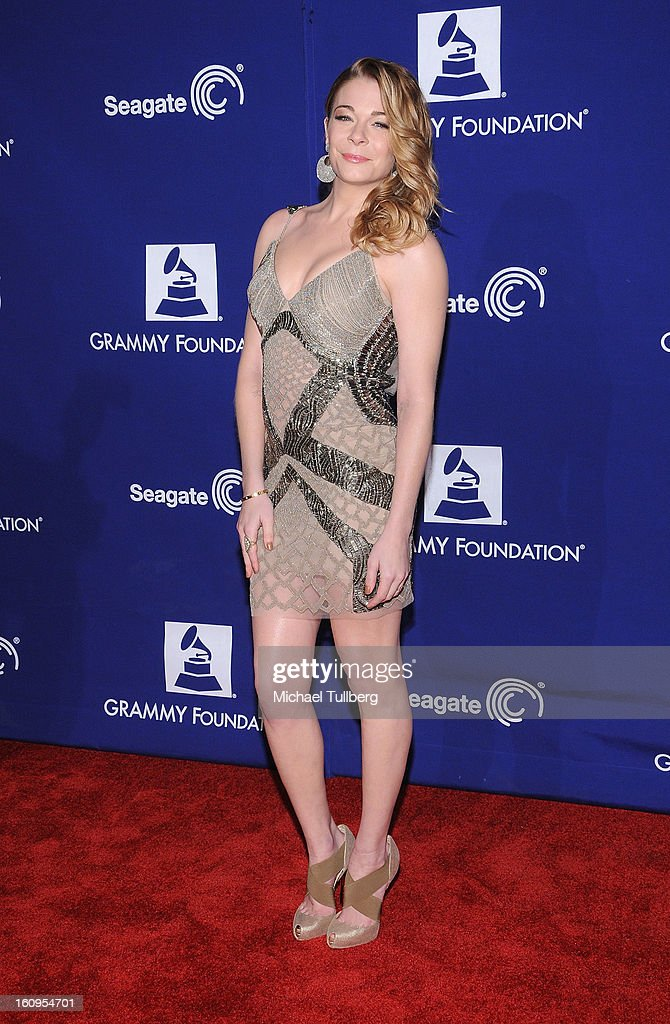Singer Leann Rimes attends the 15th Annual GRAMMY Foundation Music Preservation Project's 'Play It Forward: A Celebration Of Music's Evolution And Influencers' at Saban Theatre on February 7, 2013 in Beverly Hills, California.