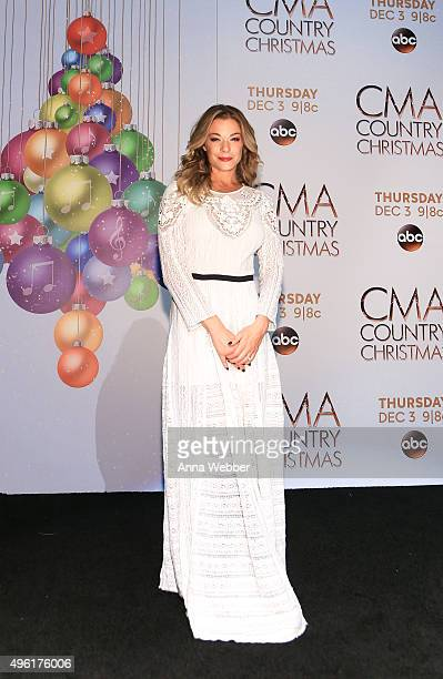Singer LeAnn Rimes attends the CMA 2015 Country Christmas Press room at the CMA 2015 Country Christmas on November 7 2015 in Nashville Tennessee
