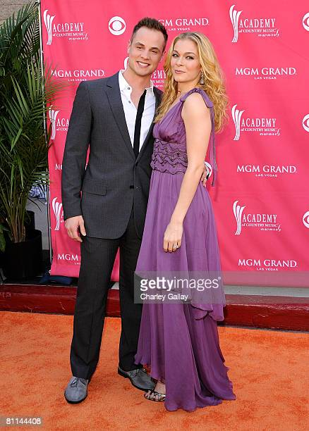 Singer LeAnn Rimes Dean Sheremet arrive at the 43rd annual Academy Of Country Music Awards held at the MGM Grand Garden Arena on May 18 2008 in Las...
