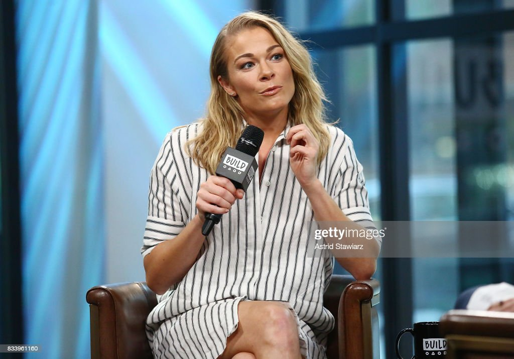 Singer LeAnn Rimes discusses her film 'Logan Lucky' at Build Studio on August 17, 2017 in New York City.