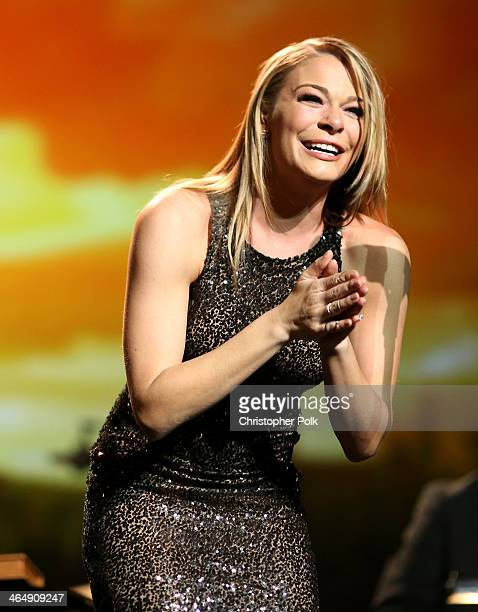 Singer LeAnn Rimes performs at 2014 MusiCares Person Of The Year Honoring Carole King at Los Angeles Convention Center on January 24 2014 in Los...