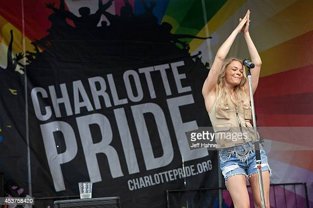 Singer LeAnn Rimes performs during the 2014 Charlotte Pride Festival on August 17 2014 in Charlotte North Carolina