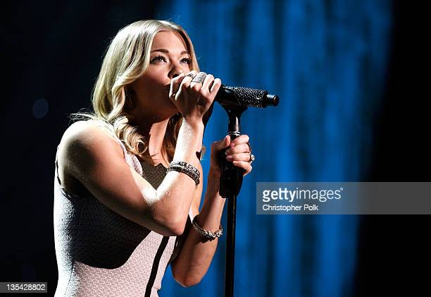 Singer LeAnn Rimes performs onstage at the American Giving Awards presented by Chase held at the Dorothy Chandler Pavilion on December 9 2011 in Los...