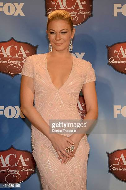 Singer LeAnn Rimes poses in the press room during the American Country Awards 2013 at the Mandalay Bay Events Center on December 10 2013 in Las Vegas...