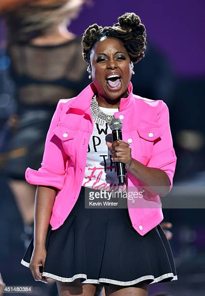 Singer Ledisi performs onstage during the BET AWARDS '14 at Nokia Theatre LA LIVE on June 29 2014 in Los Angeles California