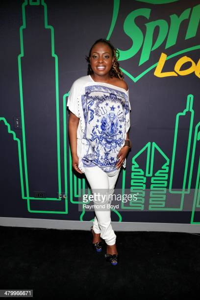 Singer Ledisi poses for photos in the V103FM 'Sprite Lounge' on March 20 2014 in Chicago Illinois
