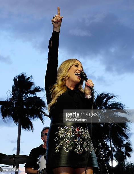 Singer Lee Ann Womack performs onstage during 2016 Stagecoach California's Country Music Festival at Empire Polo Club on April 30 2016 in Indio...