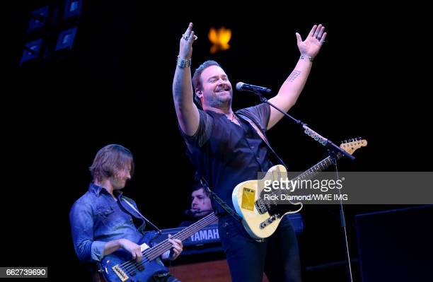 Singer Lee Brice performs during the Bash at the Beach presented by WME at the Mandalay Bay Beach at Mandalay Bay Resort and Casino on March 31 2017...