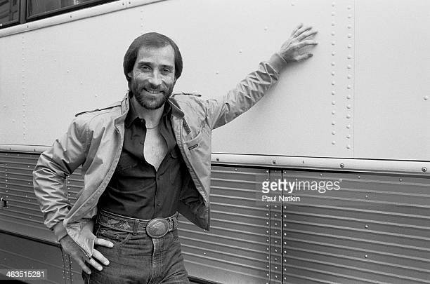 Singer Lee Greenwood poses outside the Rosemont Horizon in Rosemont Illinois November 30 1984