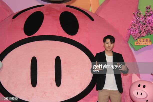 Singer Lee Seunghyun of South Korean boy band Big Bang attends a press conference of 'The Great Seungri Tour 2019 Live In Hong Kong' on January 12...
