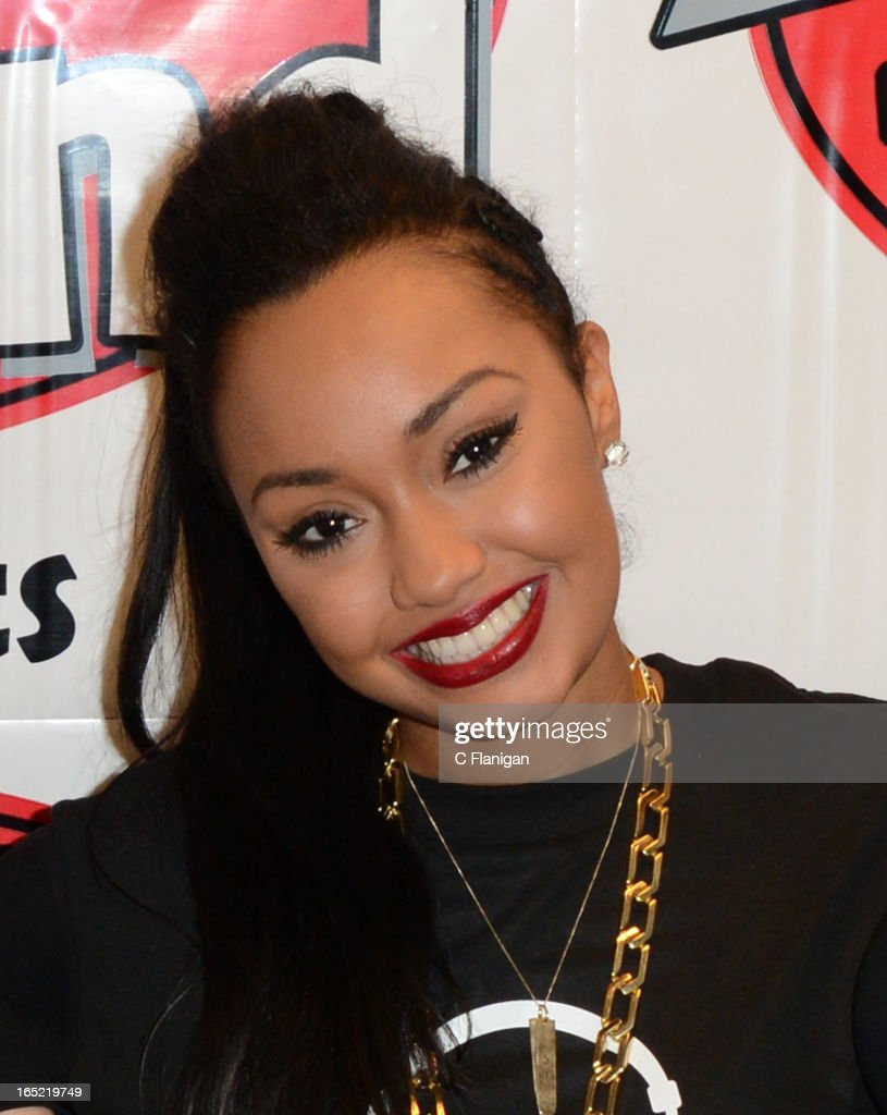 Singer Leigh-Anne Pinnock of Little Mix poses backstage after her performance at the Arden Center on April 1, 2013 in Sacramento, California.