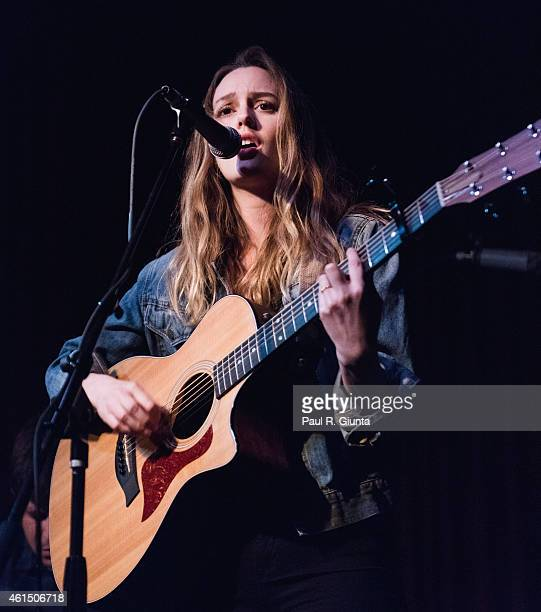 Singer Leighton Meester performs on stage at The Hotel Cafe on January 13 2015 in Hollywood California