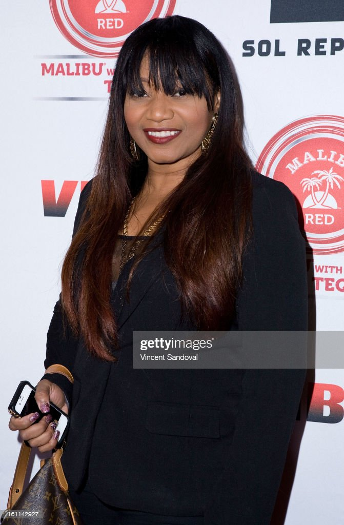 Singer Lelee Lyons of SWV attends VIBE Magazine's 20th anniversary celebration with inaugural impact awards - Arrivals at Sunset Tower on February 8, 2013 in West Hollywood, California.
