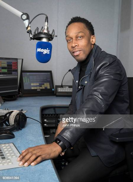 Singer Lemar joins Magic Soul as a resident DJ and records his first show at Magic Radio Studio on March 6 2018 in London England
